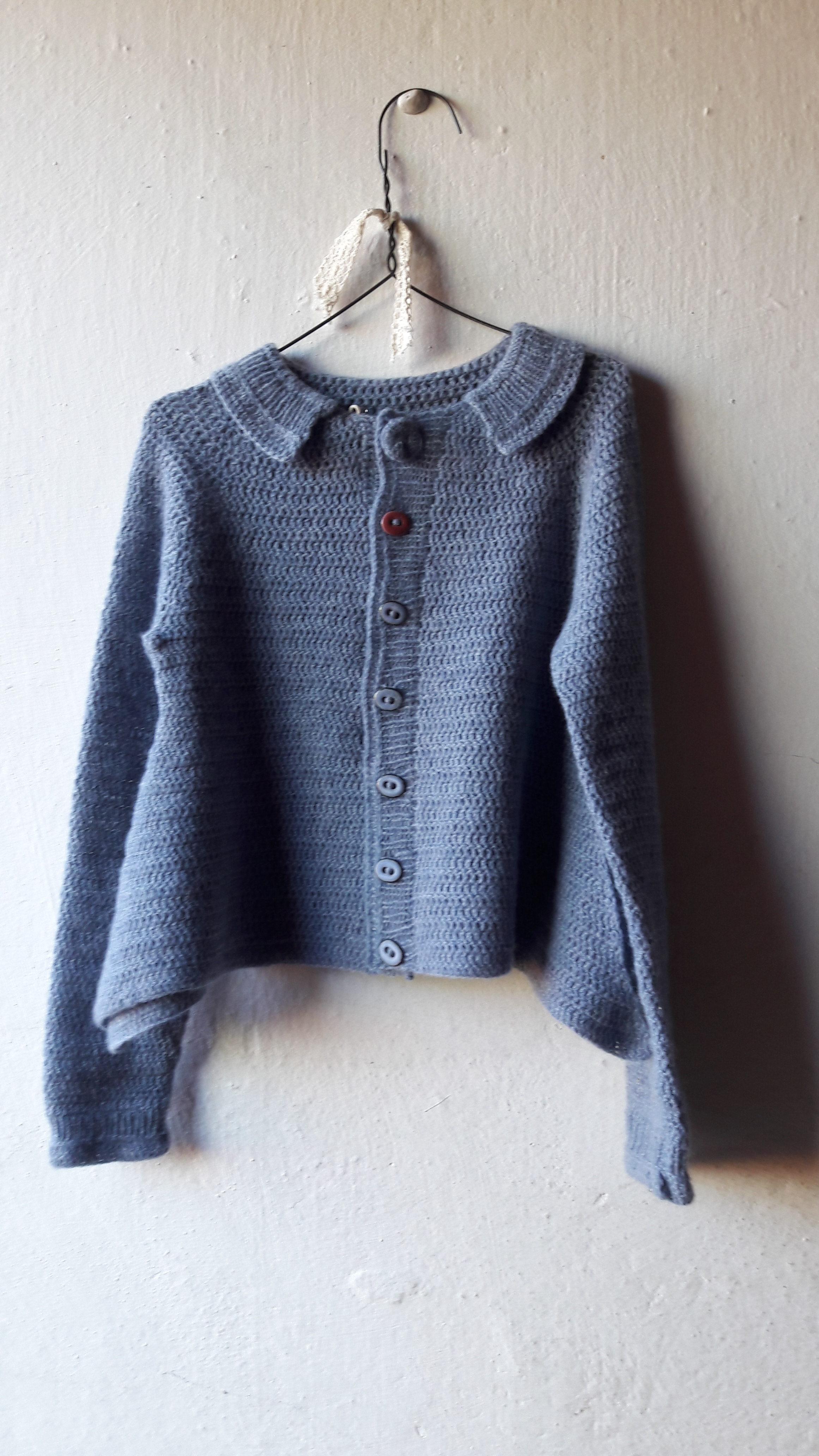 Hæklet pige trøje